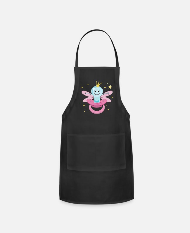 Fairy Tale Figure Aprons - Fun Pacifier Fairy TShirt for Girls To Get Rid Of Pacifiers - Apron black