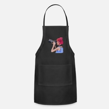 Up Women s day photographer watercolor - Adjustable Apron