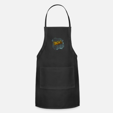 Steam Engine Vintage Retro Train Locomotive Steam Railroad Gift - Apron