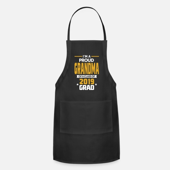 Super Aprons - I'm a Proud Grandma of a Class of 2019 Grad - Apron black