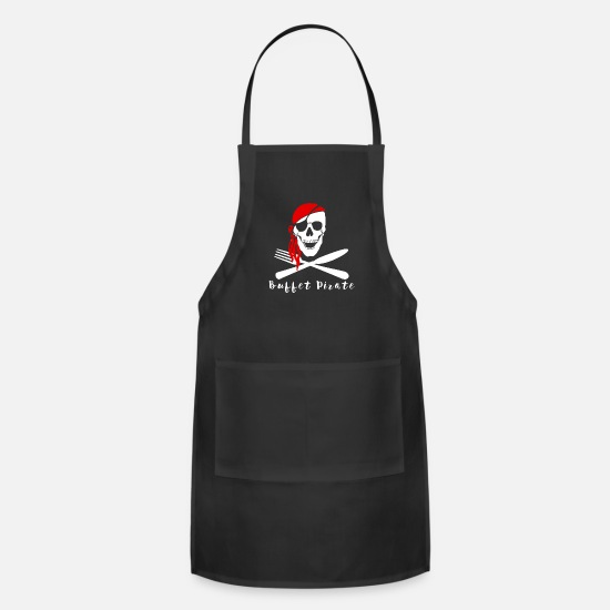 Pirate Aprons - Cruise Ship Buffet Pirate - Apron black