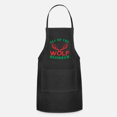 All Seeing Eye All Of The Wolf Reindeer Christmas Xmas - Adjustable Apron