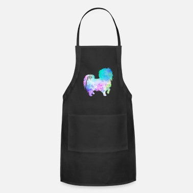 Mathematics Fractals & Rainbows, Nerd Gift, Dog & Colorful - Adjustable Apron