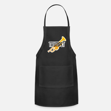 Boyfriend Girlfriend Trumpet player gift instrument trumpeter jazz band - Adjustable Apron