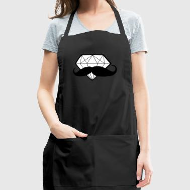 Diamond with Moustache - Hipster - Swag - Adjustable Apron