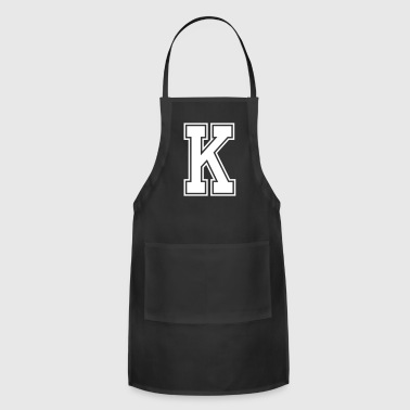 Letter K - Adjustable Apron