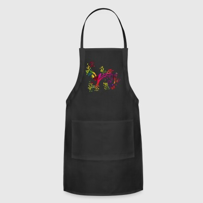 Colorful birds China Style - Adjustable Apron
