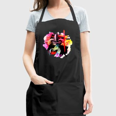 Louisiana watercolor fleur de lis cross crawfish - Adjustable Apron