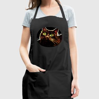 Psychedelic cat - Adjustable Apron