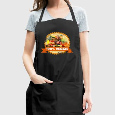Veggie Vegetables Vegan Fruits - Adjustable Apron