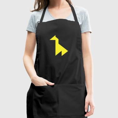 Yellow giraffe Tangram - Adjustable Apron