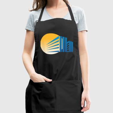 Sunset Behind the Building - Adjustable Apron