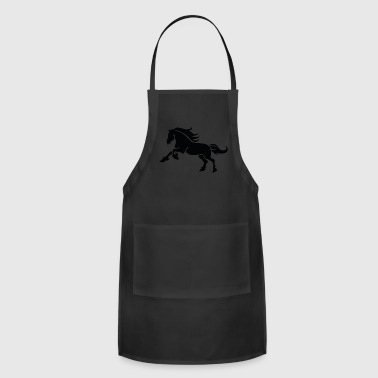 Shape running Horse animal wildlife vector image - Adjustable Apron