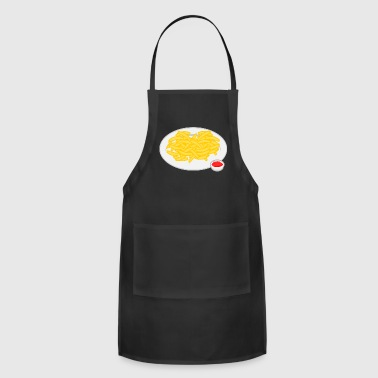french fries pommes frites ketchup fast food fritt - Adjustable Apron