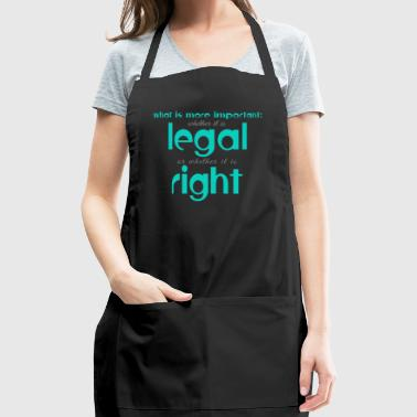 legal or right - Adjustable Apron