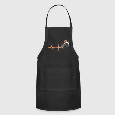 shirt gift heartbeat BMX - Adjustable Apron