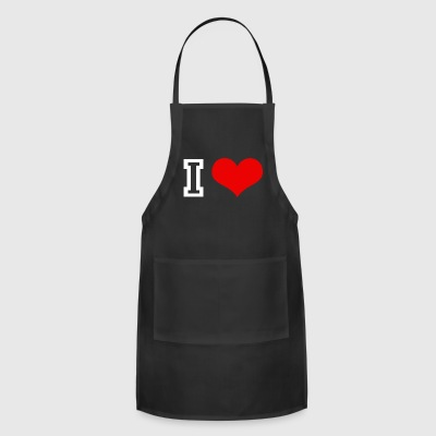 I love you I love you Say text insert yourself - Adjustable Apron