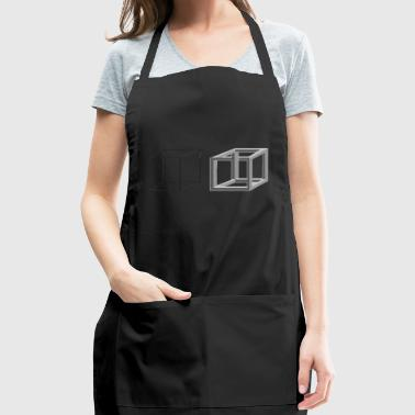 Cube Geometry Present Art Design Grey - Adjustable Apron