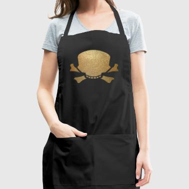 skull and bone - Adjustable Apron
