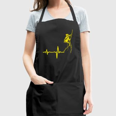 gift heartbeat mountain climbing - Adjustable Apron