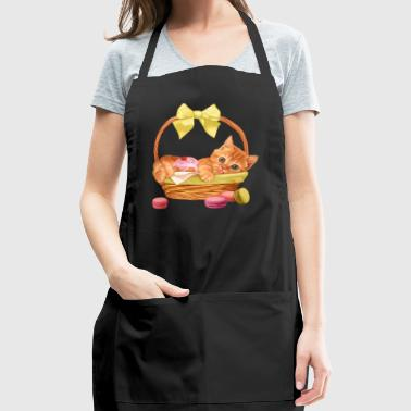 Kitty In Basket - Adjustable Apron