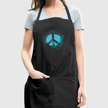 Peace blue - Adjustable Apron