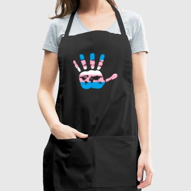 Transgender Flag Hand - Adjustable Apron