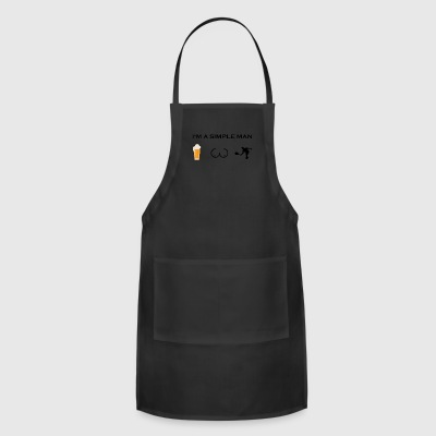 simple man boobs bier beer titten tennis tennispla - Adjustable Apron