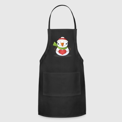 cartoon snowman christmas - Adjustable Apron