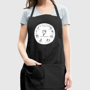 The Two Paths / crazy about mushrooms / fungi - Adjustable Apron