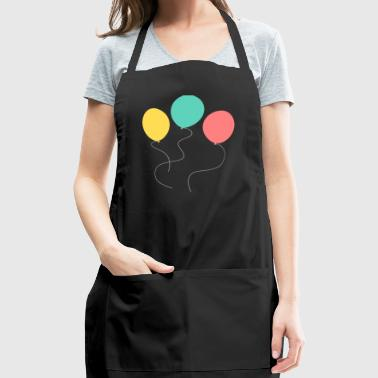 A balloon, two balloons, three balloons! - Adjustable Apron