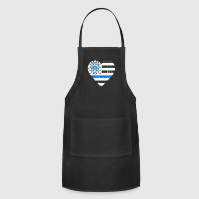 Police Thin Blue Line T shirts - Adjustable Apron