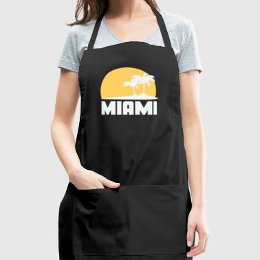 Miami Florida Sunset Palm Trees Beach - Adjustable Apron
