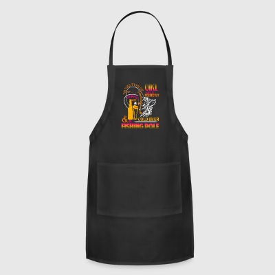 Who Is Perfectly Happy With A Cold Beer T Shirt - Adjustable Apron