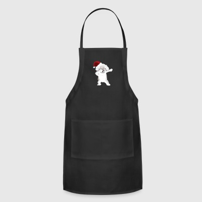 Cute Poodle Dabbing Christmas Shirt - Adjustable Apron