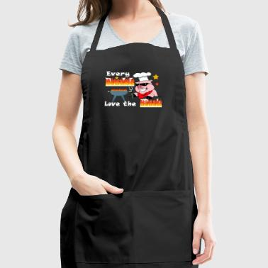 Butt Love Rub Meat Smoker Barbecue Lover - Adjustable Apron