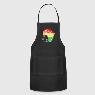 Melanin Motivation Afro - Woman Pride March - Adjustable Apron