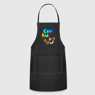 Cool Kids Play Violin Music Gift Children - Adjustable Apron