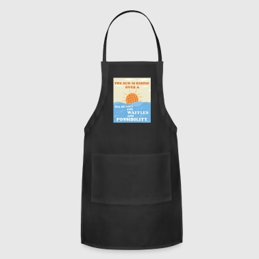 THE SUN IS RISING OVER WAFFLES - Adjustable Apron