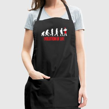 Evolution - Chef - Cooking - Baking - Funny - Adjustable Apron