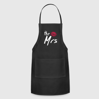 womens valentine shirts the mrs, valentines day sh - Adjustable Apron