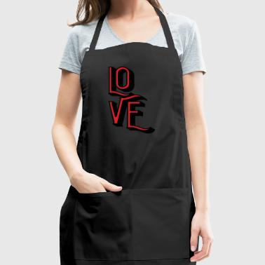 Love funny Valentines Day - Adjustable Apron