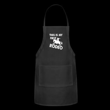 Rodeo, riding, western, T-shirt - Adjustable Apron