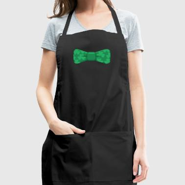 Shamrocks Bowtie Funny St. Patricks Day Green - Adjustable Apron
