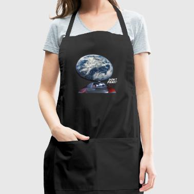 Dont Panic - Red Roadster Escapes from Earth - Adjustable Apron