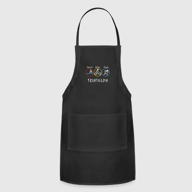 Swim, Bike, run - Triathlon - Adjustable Apron