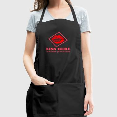 Kiss Here to activate your account - Adjustable Apron