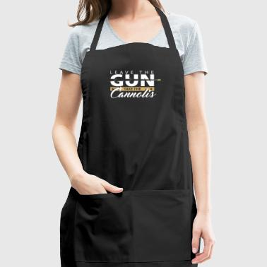 Leave the gun | epic movie quotes shirt godfather - Adjustable Apron