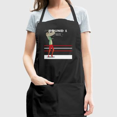 Seahorse Fighting Sloth Fantasy Animal Fight Match - Adjustable Apron