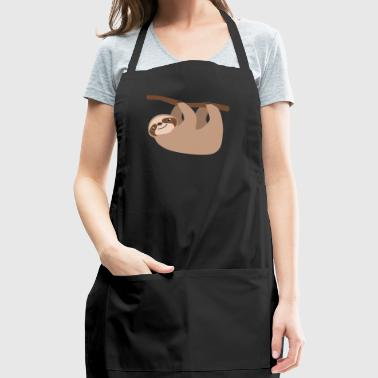 Climbing Baby Sloth Cartoon WIld Animal - Adjustable Apron